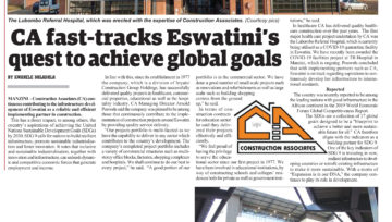 CA fast-tracks Eswatini's quest to achieve global goals